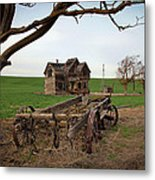 Country Home And Wagon Metal Print by Athena Mckinzie