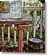 Country Porch Metal Print by Kathy Jennings