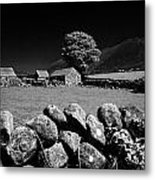 Countryside Beneath Slieve Binnian In The Mourne Mountains Northern Ireland Metal Print by Joe Fox
