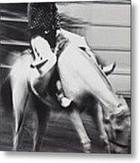 Cowboy Riding Bucking Horse  Metal Print by Garry Gay