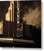 Creature Feature At The Lark - Larkspur California - 5d18484 - Sepia Metal Print by Wingsdomain Art and Photography
