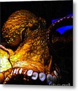 Creatures Of The Deep - The Octopus - V6 - Gold Metal Print by Wingsdomain Art and Photography