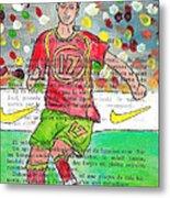 Cristiano Ronaldo Metal Print by Jera Sky