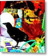 Crow's Piano Metal Print by YoMamaBird Rhonda