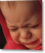 Crying Baby Metal Print by John Wong