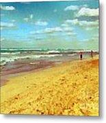 Cuba Beach Metal Print by Odon Czintos