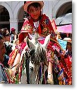 Cuenca Kids 70 Metal Print by Al Bourassa