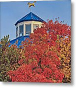 Cupola Coolidge Park Carousel Metal Print by Tom and Pat Cory