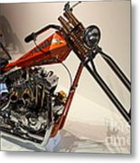 Custom Motorcycle Chopper . 7d13319 Metal Print by Wingsdomain Art and Photography