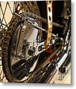 Custom Motorcycle Chopper . 7d13320 Metal Print by Wingsdomain Art and Photography
