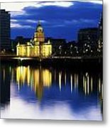 Customs House And Liberty Hall, River Metal Print by The Irish Image Collection