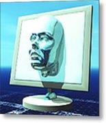 Cyber Personality Metal Print by Laguna Design