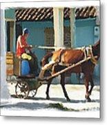 daily chores small town rural Cuba Metal Print by Bob Salo