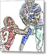 Dallas Cowboys Dez Bryant Washington Redskins Deangelo Hall Metal Print by Jack K