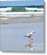 Dancing On The Beach Metal Print by Kaye Menner