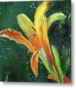 Day Lily Number Two Metal Print by Gary Deslauriers
