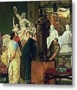 Dealer In Statues  Metal Print by Sir Lawrence Alma-Tadema