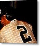 Derek Jeter II- New York Yankees - Baseball  Metal Print by Lee Dos Santos