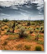 Desert Of New Mexico Metal Print by Thomas  MacPherson Jr