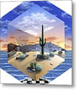 Desert On My Mind 2 Metal Print by Snake Jagger