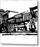 Dickson Street In Fayetteville Ar Metal Print by Amanda  Sanford