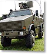 Dingo II Vehicle Of The Belgian Army Metal Print by Luc De Jaeger