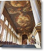 Dining Hall At Royal Naval College Metal Print by Anna Villarreal Garbis