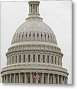 Dome Of The Capitol Building Metal Print by Roberto Westbrook