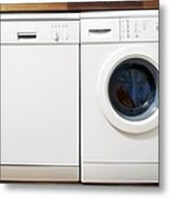 Domestic Dishwasher And Washing Machine Metal Print by Johnny Greig