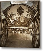 Donkey Cart Metal Print by Cliff  Norton