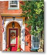Door In Historic District I Metal Print by Steven Ainsworth