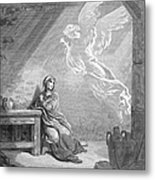 Dor�: The Annunciation Metal Print by Granger