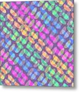 Dotted Check Metal Print by Louisa Knight