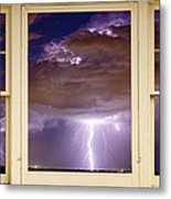 Double Lightning Strike Picture Window Metal Print by James BO  Insogna