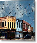 Downtown Bryan Texas 360 Panorama Metal Print by Nikki Marie Smith