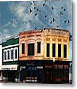 Downtown Bryan Texas Panorama 5 To 1 Metal Print by Nikki Marie Smith
