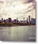 Downtown Chicago Skyline Lakefront Metal Print by Paul Velgos