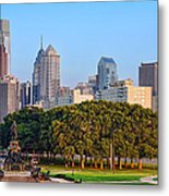 Downtown Philadelphia Skyline Metal Print by Olivier Le Queinec