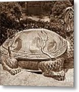 Dragon Turtle Figure Metal Print by Yurix Sardinelly