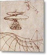 Drawings By Leonardo Divinci Metal Print by Science Source