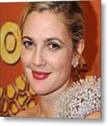 Drew Barrymore At The After-party Metal Print by Everett
