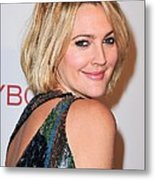 Drew Barrymore Wearing Pucci Metal Print by Everett