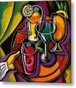 Drinks Metal Print by Leon Zernitsky