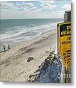 Dunes Rebuilding Keep Off Grass And Dune Area Cape Cod Metal Print by Matt Suess