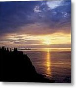 Dunluce Castle At Sunset, Co Antrim Metal Print by The Irish Image Collection