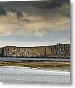 Dunstanburgh Castle On A Hill Under A Metal Print by John Short