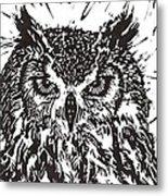 Eagle Owl Metal Print by Julia Forsyth