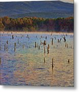 Early Morning Color Of Lake Wilhelmina-arkansas Metal Print by Douglas Barnard