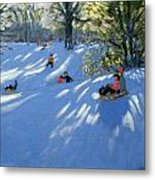 Early Snow Metal Print by Andrew Macara