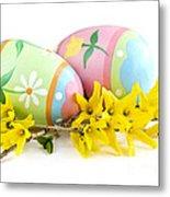 Easter Eggs Metal Print by Elena Elisseeva